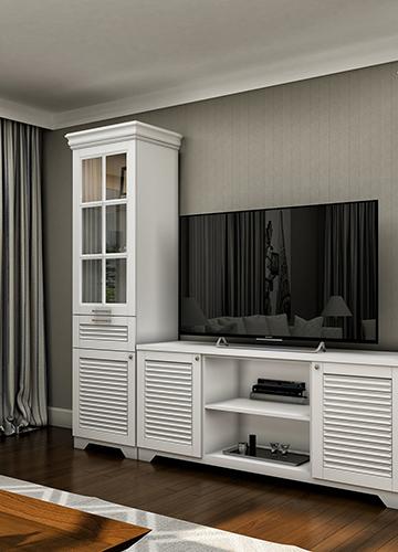 TV Unit & Cloakroom